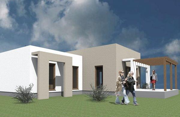 Minimál ház modern stílusjegyekkel